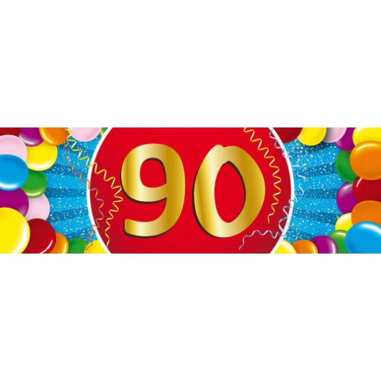 90 jaar sticker