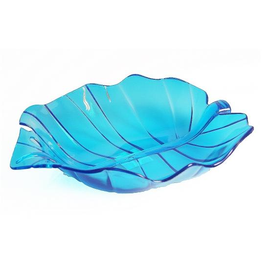Blauwe serveer schaal 32 cm