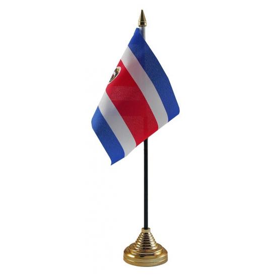 Costa Rica tafelvlaggetje inclusief standaard
