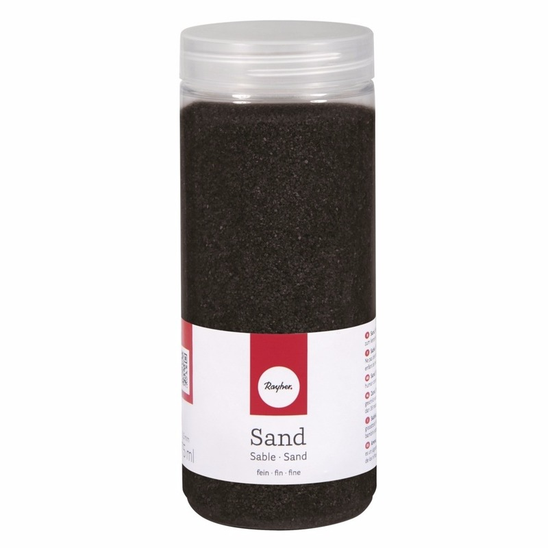 Fijn decoratie zand zwart
