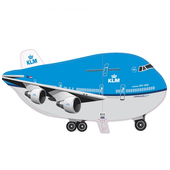 Grote folie ballon KLM vliegtuig