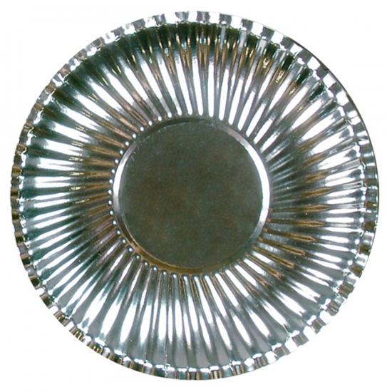 Grote kartonnen bordjes zilver 29 cm