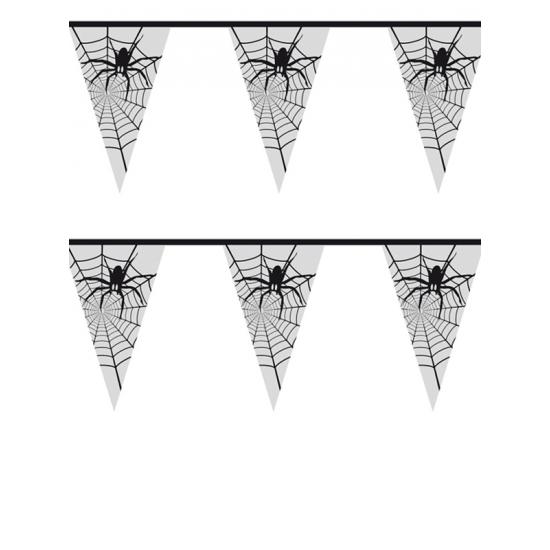 Halloween Spinnenweb vlaggenlijn 6 meter
