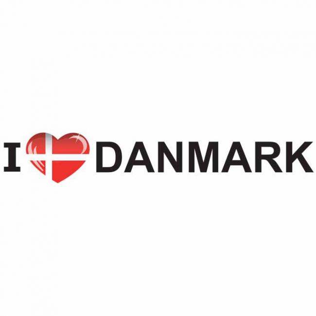 I Love Denmark sticker