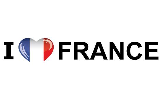 I Love France sticker