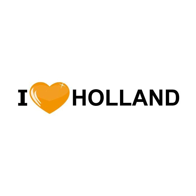 I Love Holland oranje sticker