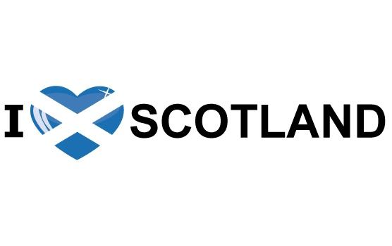 I Love Scotland sticker