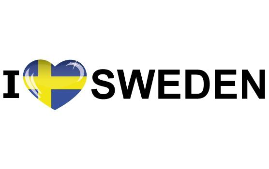 I Love Sweden sticker