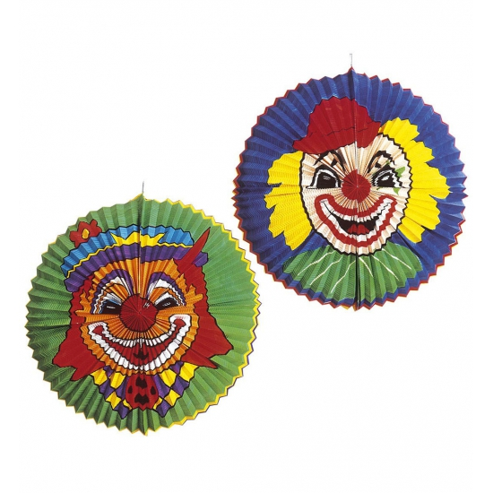 Jumbo lampion met clown