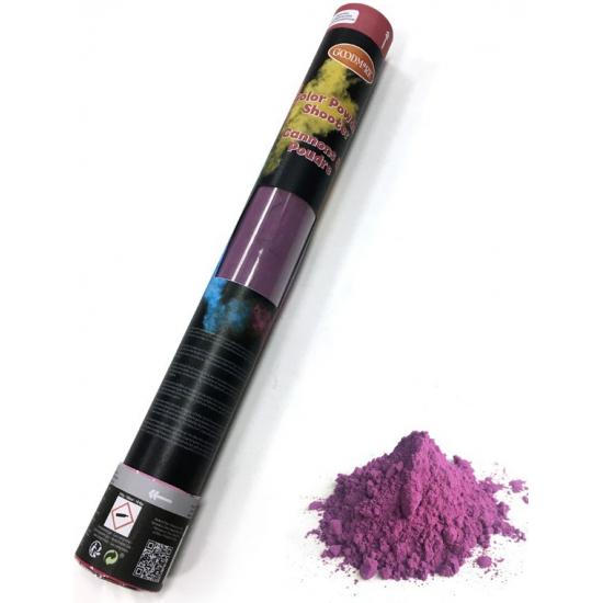 Kleurenpoeder shooter paars 40 cm