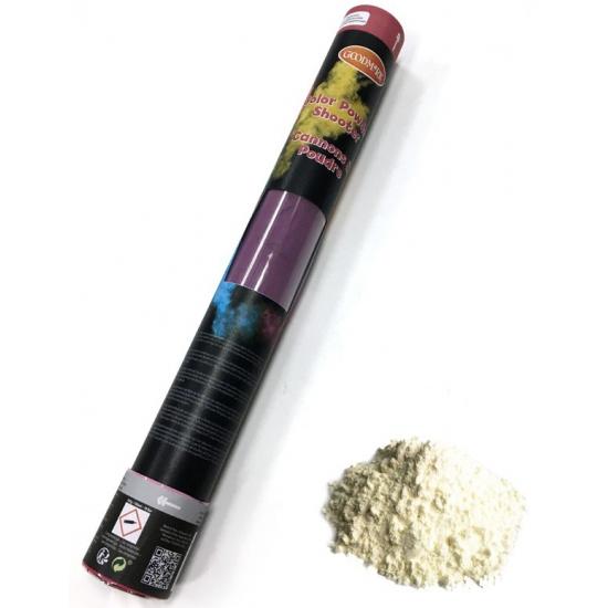 Kleurenpoeder shooter wit 40 cm