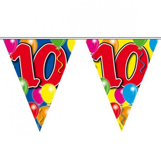 Leeftijd vlaggenlijn 10 jaar