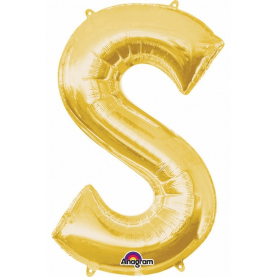 Letter S ballon goud 86 cm