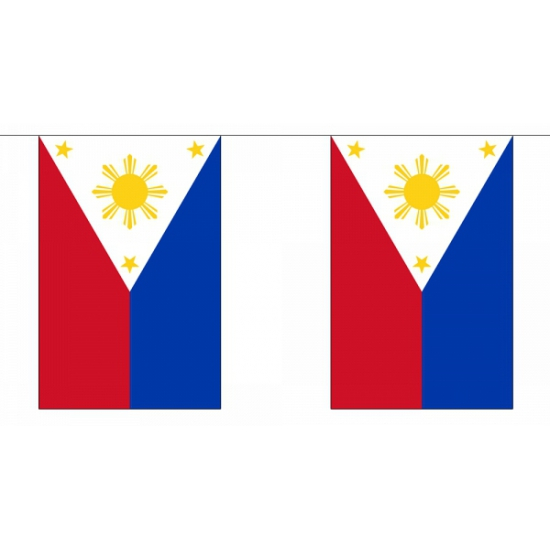 Luxe Filipijnen vlaggenlijn 9 m