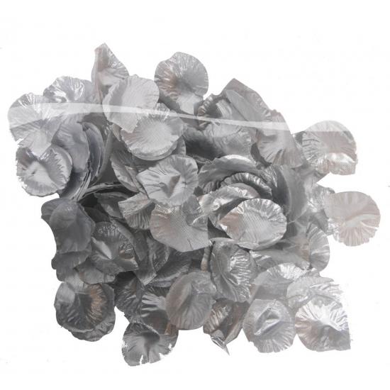 Luxe zilveren rozenblaadjes