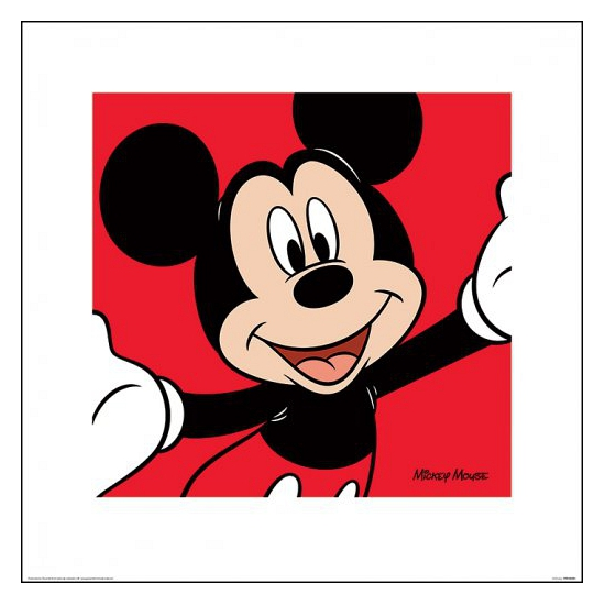 Mickey Mouse poster van karton 40 x 40 cm