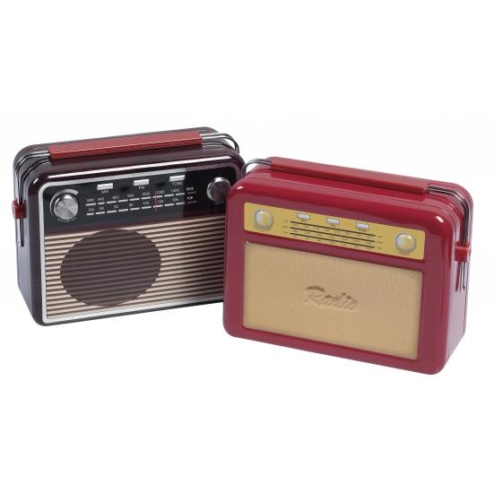 Opbergblik radio rood