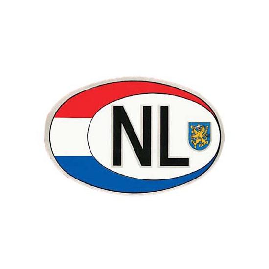Ovale Nederland sticker 17 x 12 cm