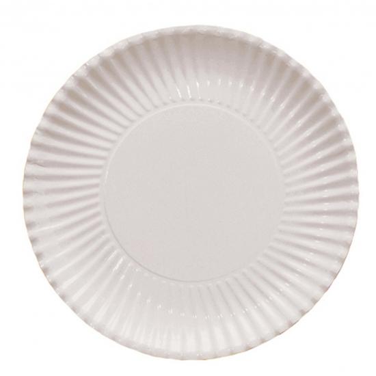 Platte kartonnen bordjes wit 29 cm