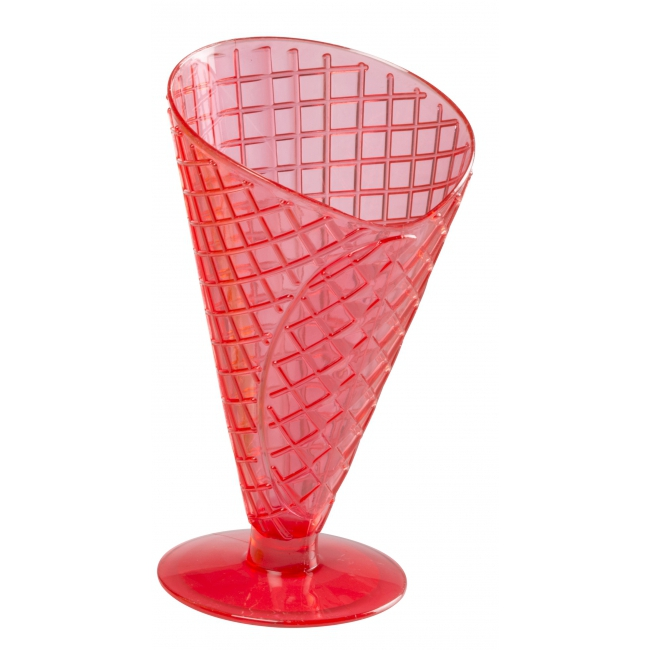 Rode ijscoupe 9,2 cm