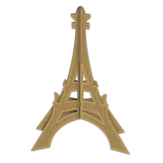Tafeldecoratie Eiffeltoren met glitters