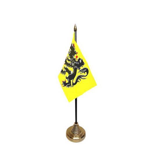 Vlaanderen tafelvlaggetje inclusief standaard