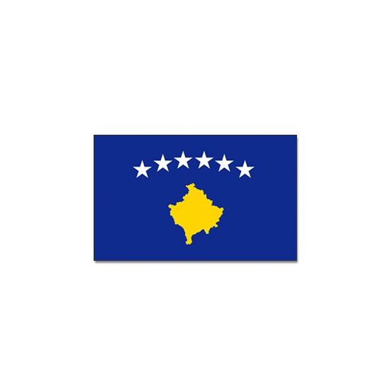 Vlag Kosovo 90 x 150 cm (bron: Landenversiering)