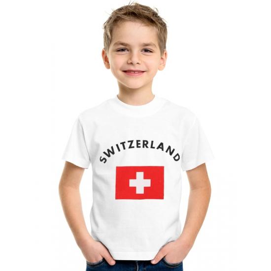 Wit kinder t-shirt Zwitzerland