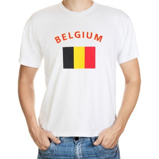 Wit t-shirt Belgie heren