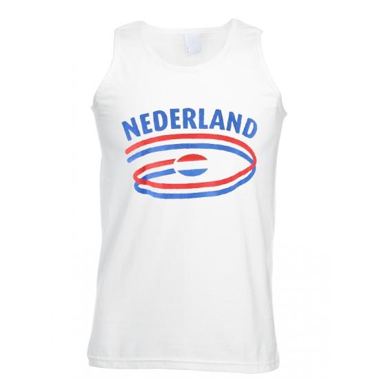 Witte heren tanktop Nederland