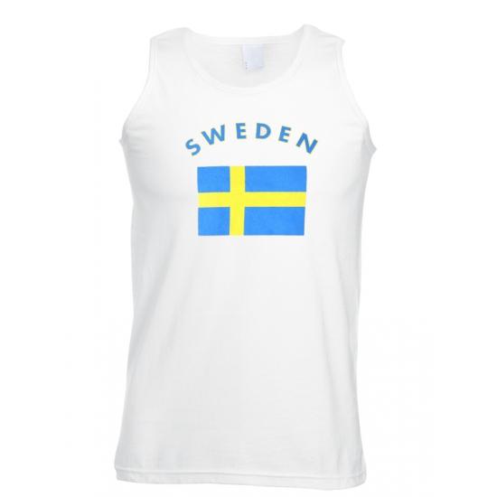 Witte heren tanktop Zweden