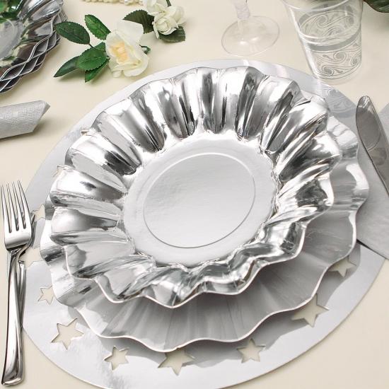 Zilveren diepe bordjes 27 cm