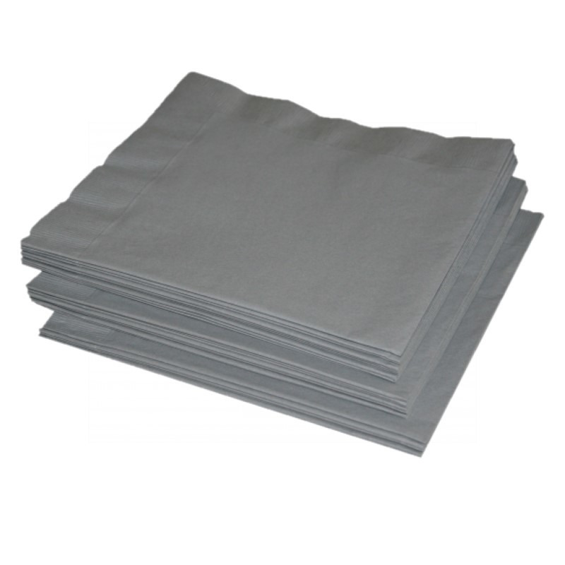 Zilveren servetten 41 x 41 cm