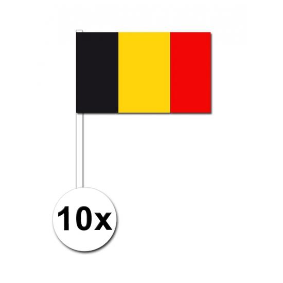 10 zwaaivlaggetjes Belgie 12 x 24 cm