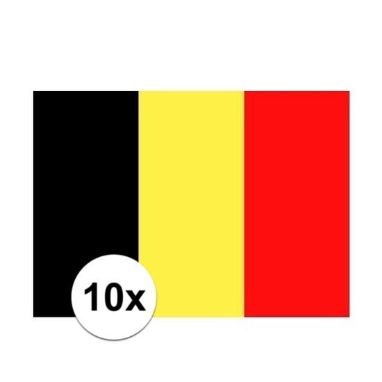 10x stuks Vlag Belgie stickers