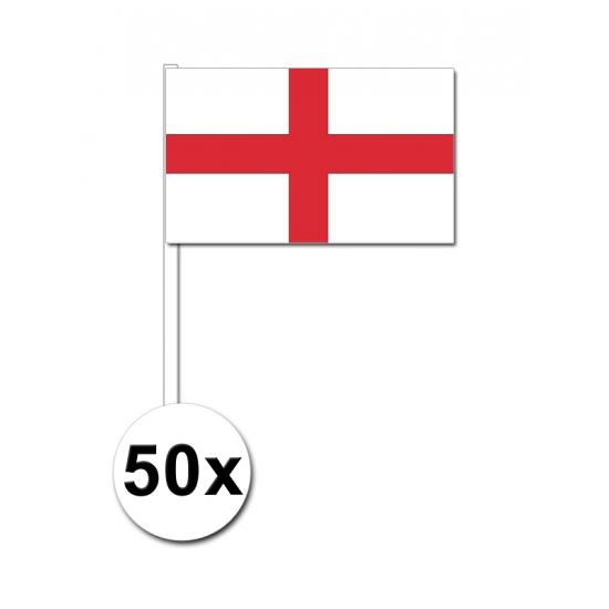 50 Engelse zwaaivlaggetjes 12 x 24 cm