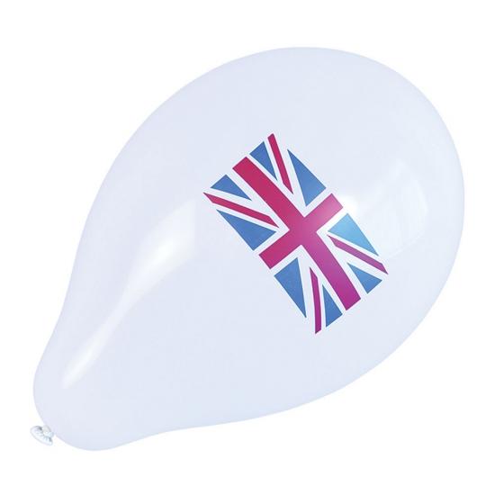 Ballonnen met Engelse vlag