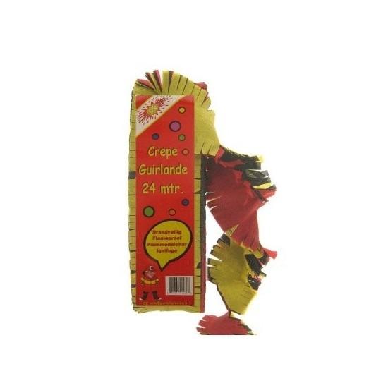 Belgie/Belgische versiering crepe slinger