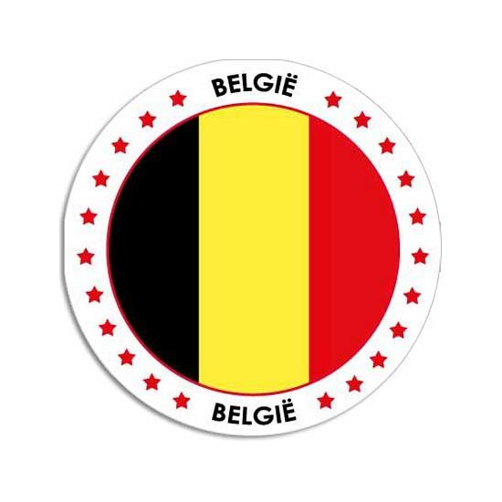 Belgie sticker rond 14,8 cm