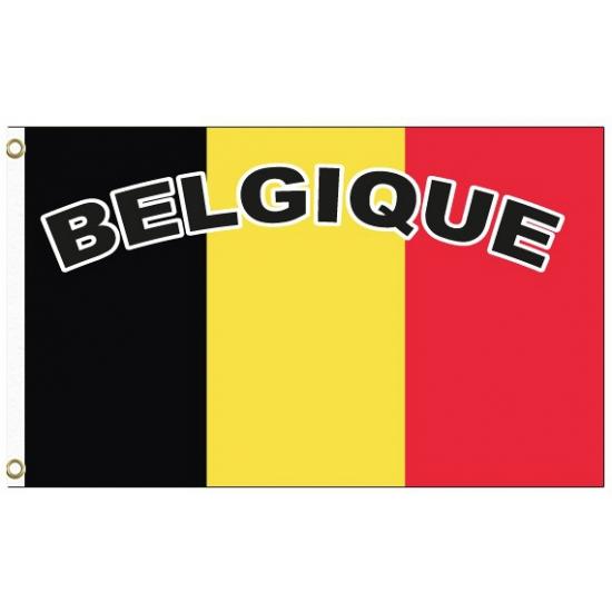 Belgie vlag met tekst
