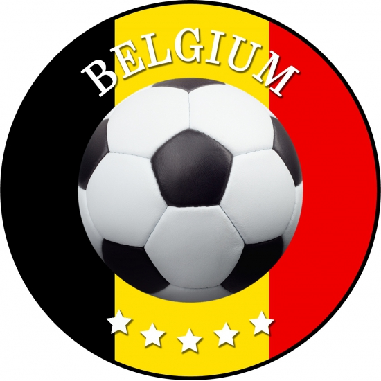 Bierviltjes Belgi? voetbal print