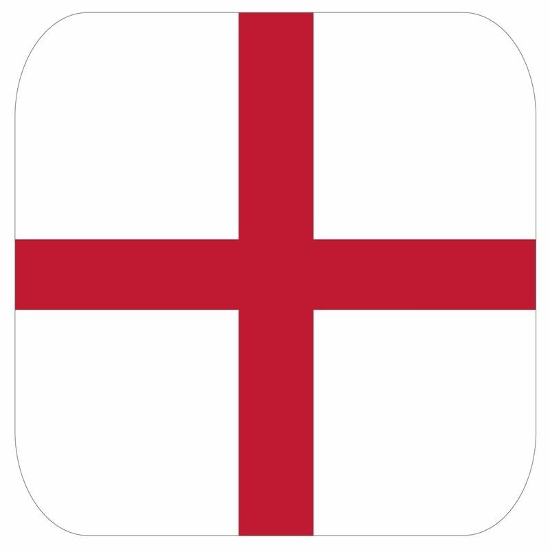 Bierviltjes Engelse vlag vierkant 15 st