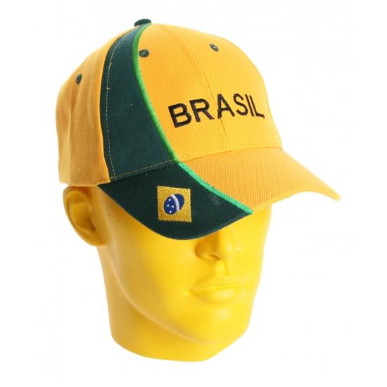 Brazilie baseballpet geel/groen