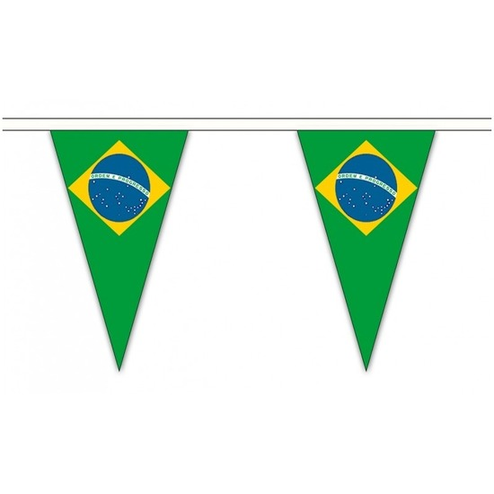 Brazilie landen punt vlaggetjes 5 meter
