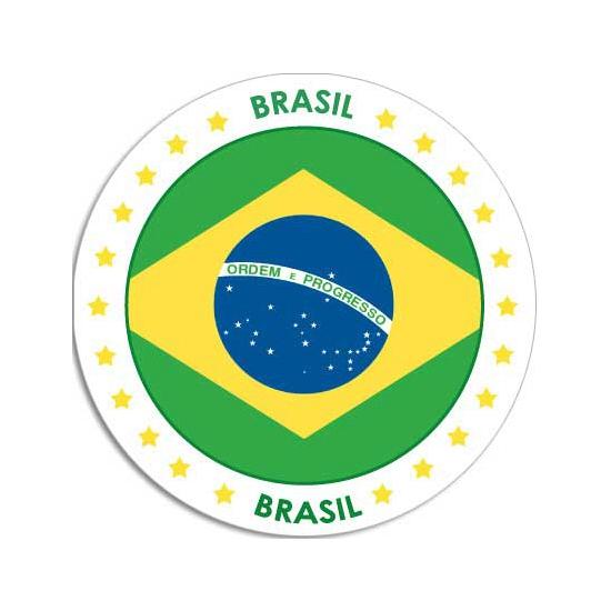 Brazilie sticker rond 14,8 cm