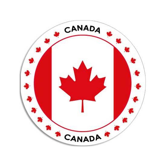 Canada sticker rond 14,8 cm