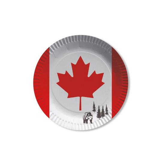Canada wegwerp bordjes 8 stuks