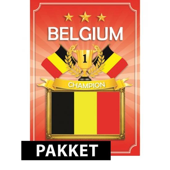 EK/WK Belgie feestartikelen pakket