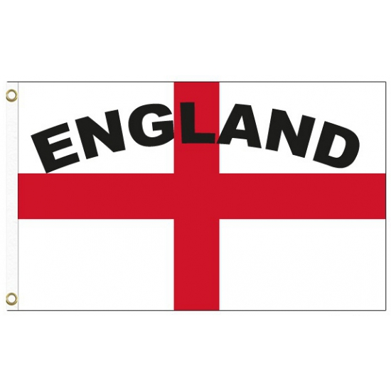 Engeland vlag met tekst
