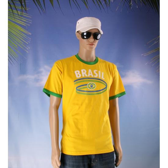 Geel heren shirt Brazilie